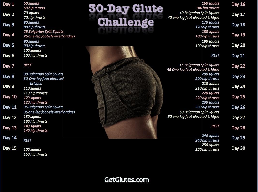 30 day glute challenge bret contreras 30daychallenge fandeluxe Gallery