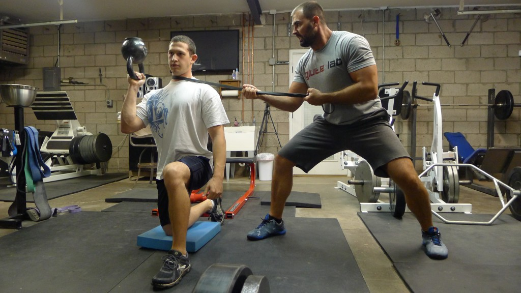 No need for bench press bro, we're building functional pressing strength that you can use in real life.
