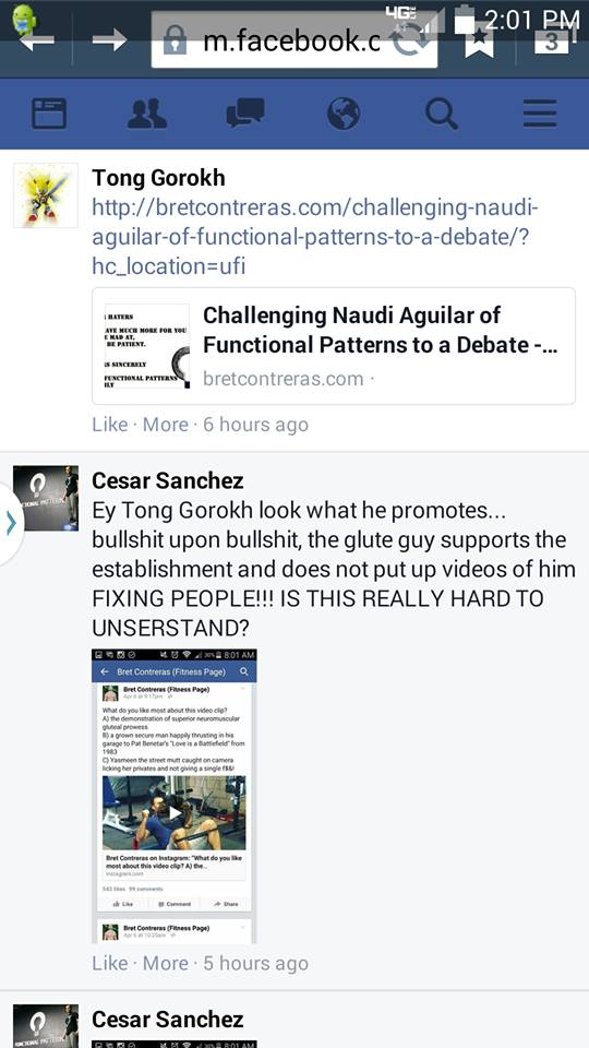 """Naudi's Minions (Cesar) Going After People and Accusing People Like Me of """"Supporting the Establishment"""""""