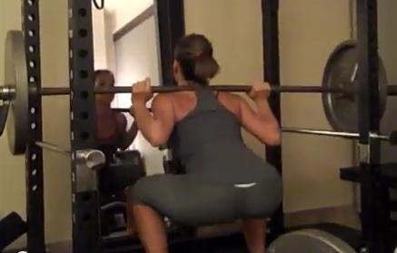 Diana 135 lb squat