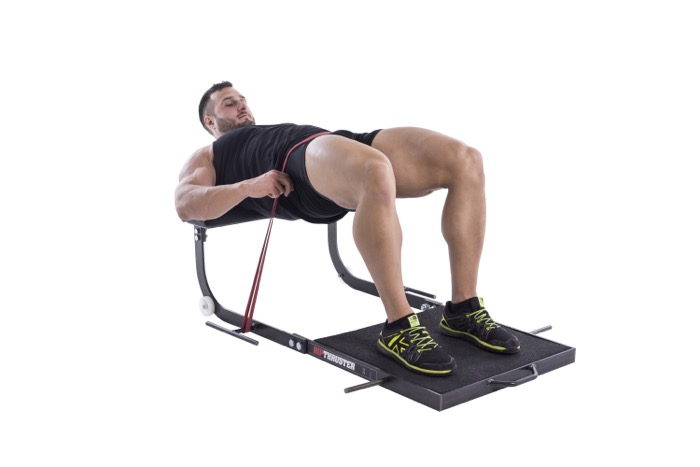 Band-resisted hip thrust