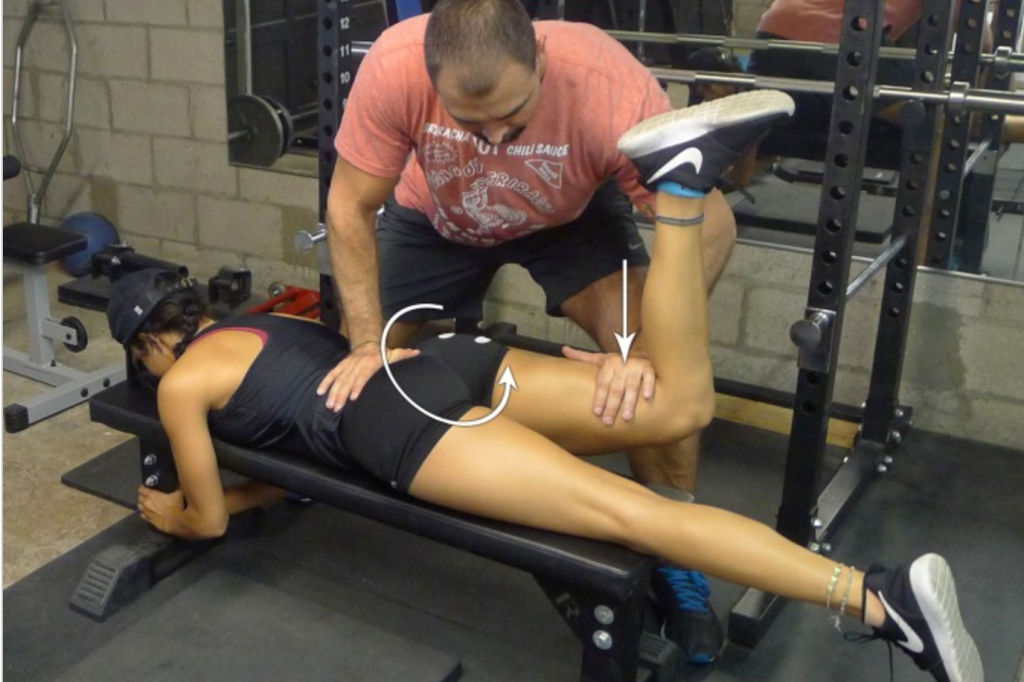 Gluteus maximus MVIC position: Similar to top hip thrust position