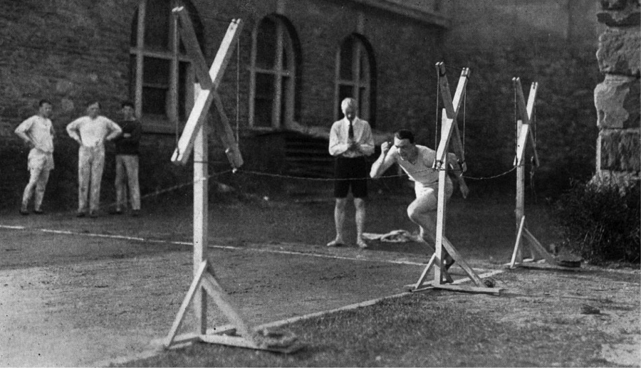 My favorite sport science picture. Archibald Hill during field sprint measurements.