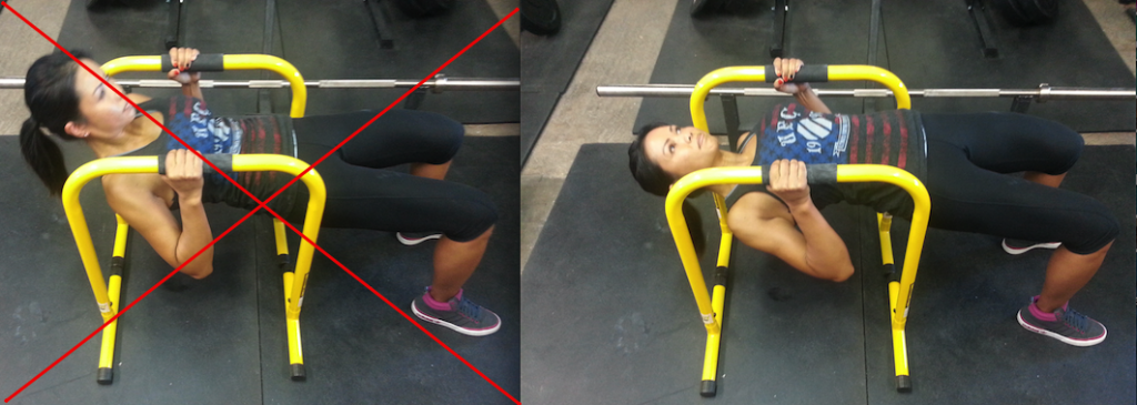 Keep the chest up with inverted rows