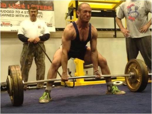 Jordan pulling 485 lbs at 132 lbs.
