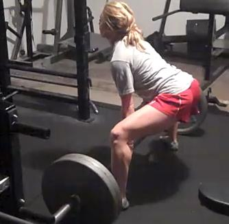 Karli 225 lb sumo deadlift