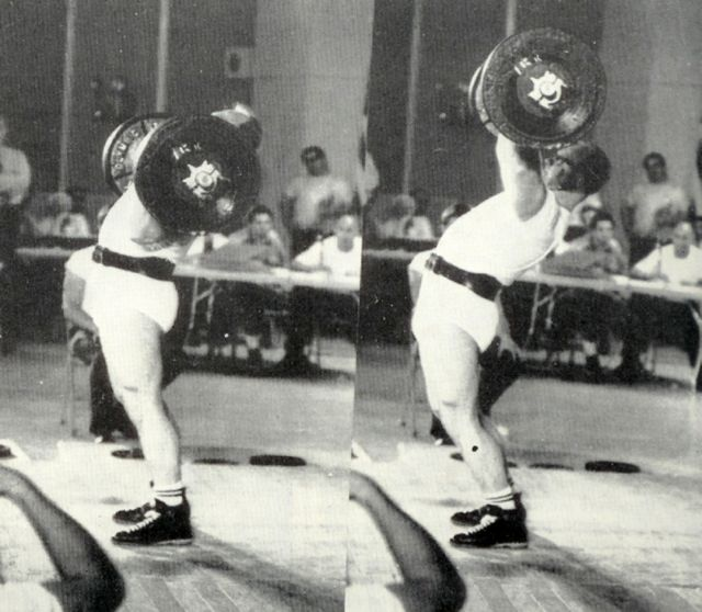 Not everyone hurts their low backs with the military press, once upon a time this was an Olympic lift and many lifter's backs could endure this type of form