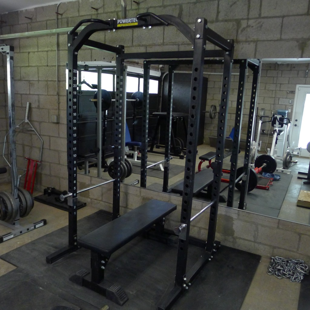 rogue garage gym ideas - New & Improved Garage Gym – Bret Contreras