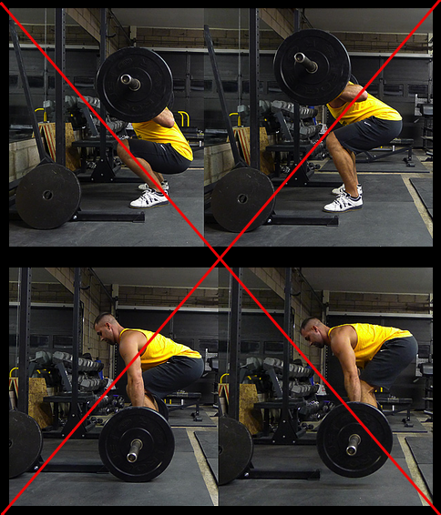 Poor squat and deadlift form