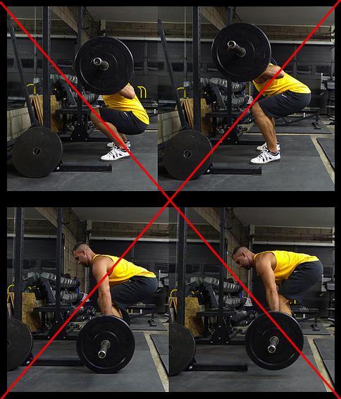 Poor squat and deadlift form