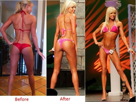 Sammie trained just 2 days per week with 1-2 sets of a handful of exercises to achieve this transformation.