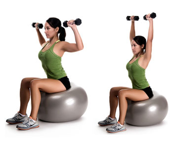 Image result for Dumbbell Seated Military Press