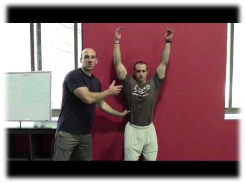 back to wall shoulder flexion cressey