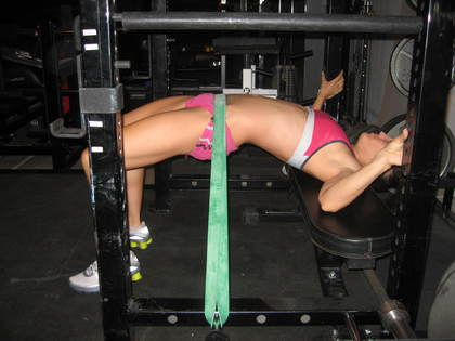 This picture of Katie Coles is from 2009 in my old garage!