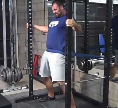 band standing hip thrust