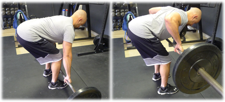 basic bent over row