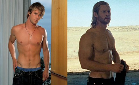 Chris Hemsworth bulked up right