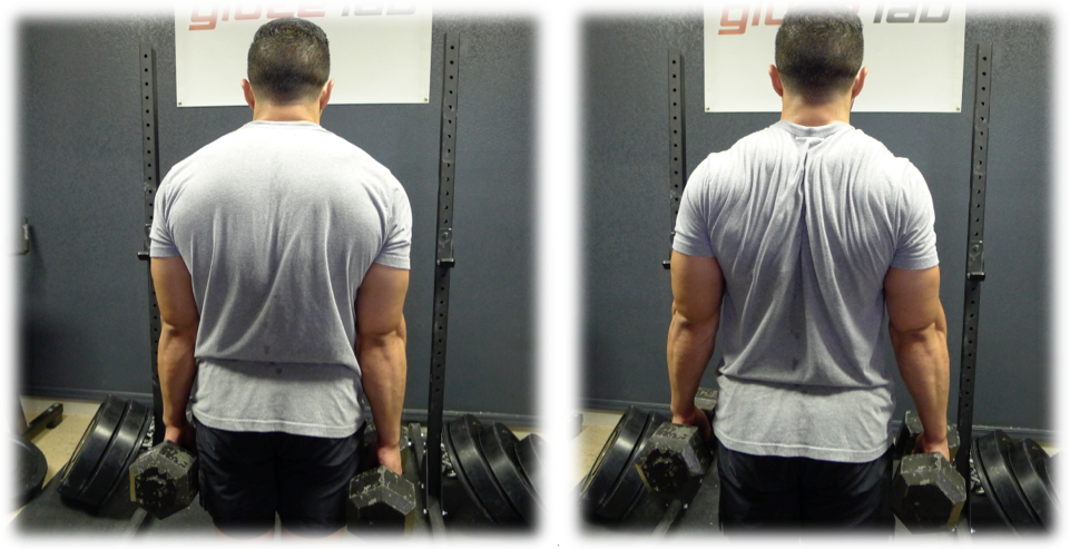 farmers walk shoulder position