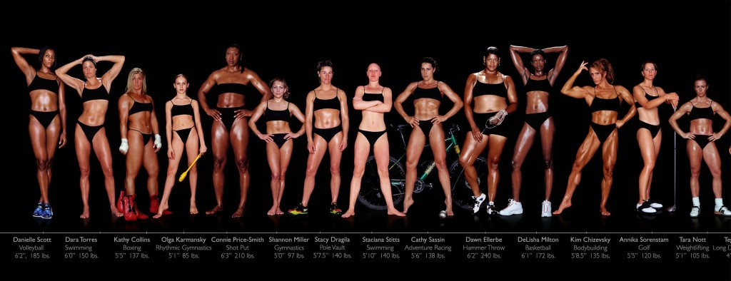 Each of these athletes exercise a lot, but when adjusting for height, we find that the smaller women consume much less calories than the larger women