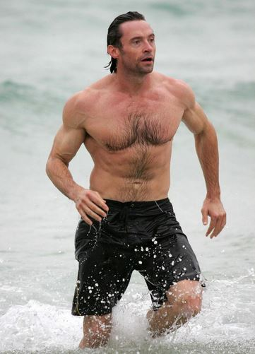 Hugh Jackman bulked up right too