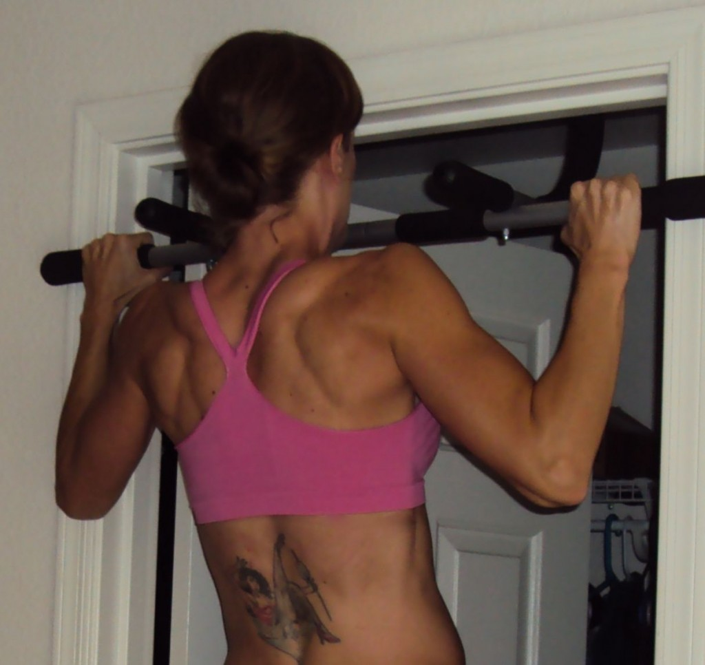 Kellie Davis Working on Her Pull-Ups