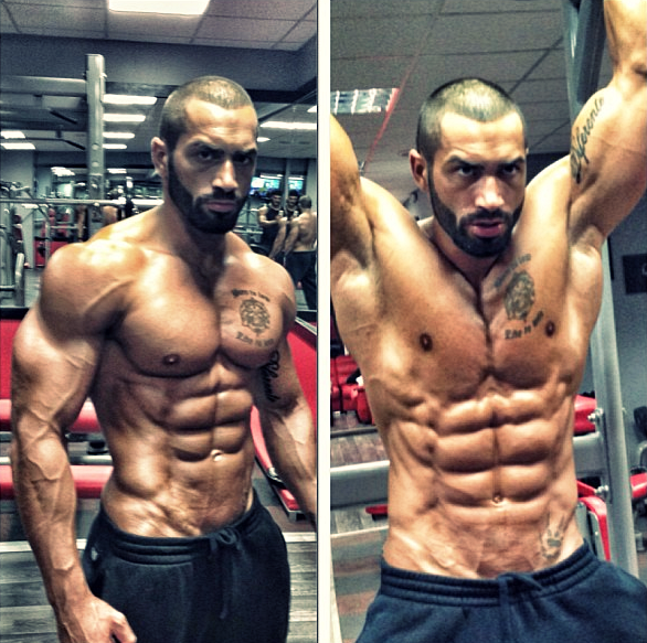 This guy is shredded!
